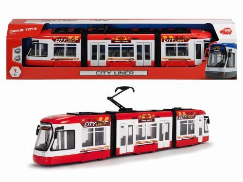 Dickie tramvai rosu cu usi mobile 46cm - Jucarii copilasi - Avioane jucarie
