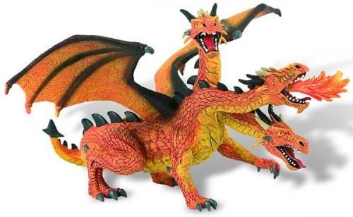 Dragon orange cu 3 capete - Jucarii copilasi - Figurine pop