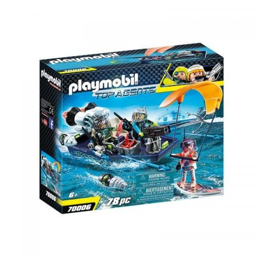 Echipa Shark Cu Barca - Jucarii Playmobil -