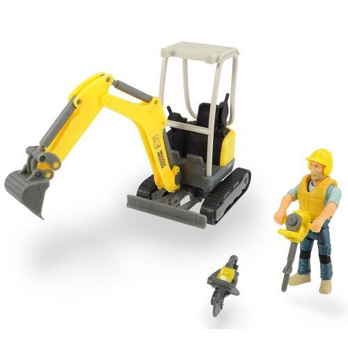 Excavator Dickie Toys Playlife Excavator Set cu figurina si accesorii - Jucarii copilasi - Avioane jucarie