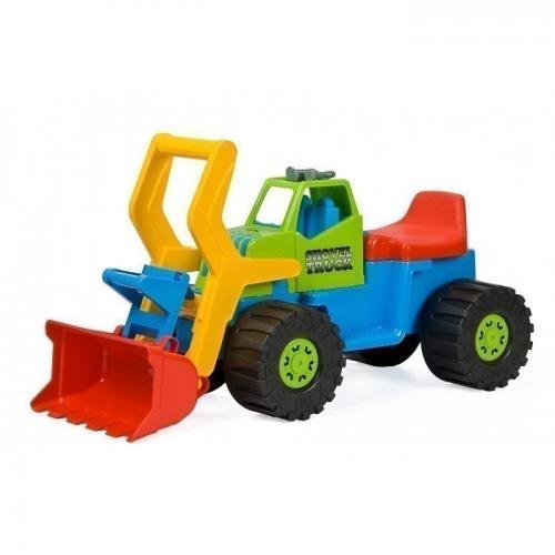 Excavator pentru copii marmat - cabina verde - Plimbare bebe - Masinute fara pedale