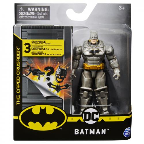 Figurina batman in costum cu armura 10cm cu 3 cate accesorii - Jucarii copilasi - Figurine pop