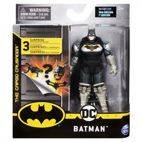 Figurina batman in costum cu armura 10cm cu accesorii surpriza - Jucarii copilasi - Figurine pop