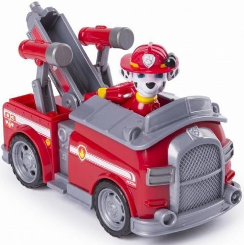 Figurina si autovehicul paw patrol marshall si masina de pompieri - Jucarii copilasi - Figurine pop