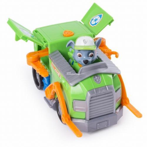 Figurina si autovehicul paw patrol remorcherul lui rocky - Jucarii copilasi - Figurine pop