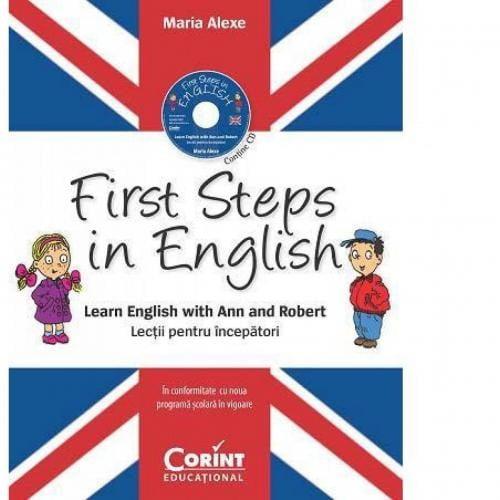 First Steps in English Lectii pentru incepatori (contine CD audio) - Carti  -