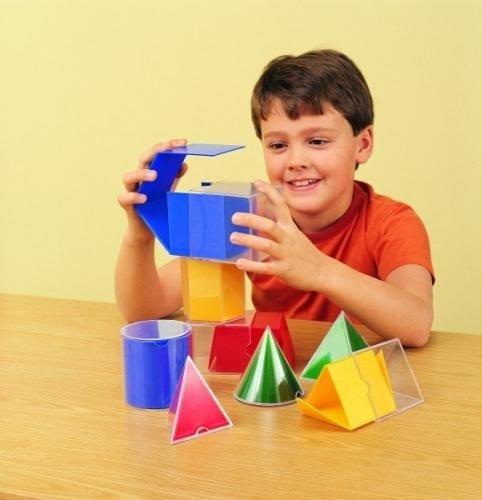 Forme Geometrice Pliante - 16 Piese - Jocuri pentru copii - Jocuri matematica