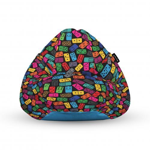 Fotoliu units puf (bean bags) tip para - impermeabil - cu maner - 100x80x70 cm - domino colorat - Camera bebelusului - Bean bags