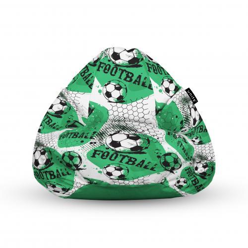 Fotoliu units puf (bean bags) tip para - impermeabil - cu maner - 100x80x70 cm - fotbal - Camera bebelusului - Bean bags