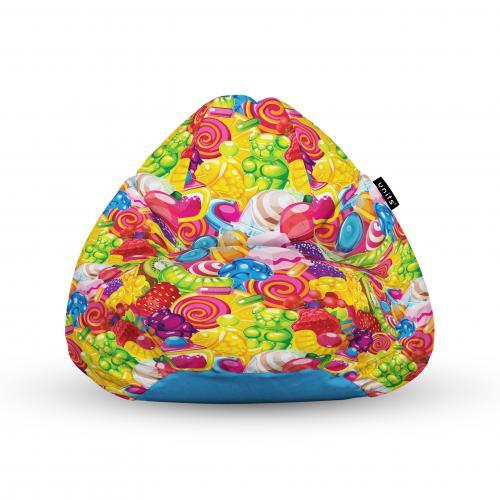 Fotoliu units puf (bean bags) tip para - impermeabil - cu maner - 100x80x70 cm - fruits candy - Camera bebelusului - Bean bags