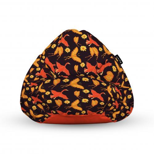 Fotoliu units puf (bean bags) tip para - impermeabil - cu maner - 100x80x70 cm - gaste si fluturi - Camera bebelusului - Bean bags