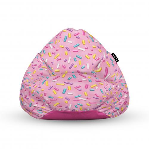 Fotoliu units puf (bean bags) tip para - impermeabil - cu maner - 100x80x70 cm - glazed sprinkle - Camera bebelusului - Bean bags