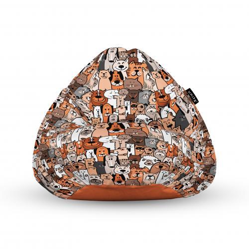 Fotoliu units puf (bean bags) tip para - impermeabil - cu maner - 100x80x70 cm - invazia animalelor - Camera bebelusului - Bean bags