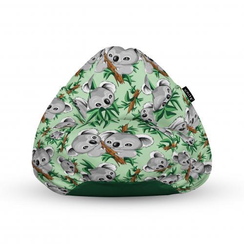 Fotoliu units puf (bean bags) tip para - impermeabil - cu maner - 100x80x70 cm - koala - Camera bebelusului - Bean bags