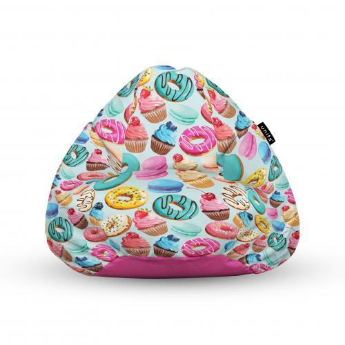 Fotoliu units puf (bean bags) tip para - impermeabil - cu maner - 100x80x70 cm - macarons - Camera bebelusului - Bean bags