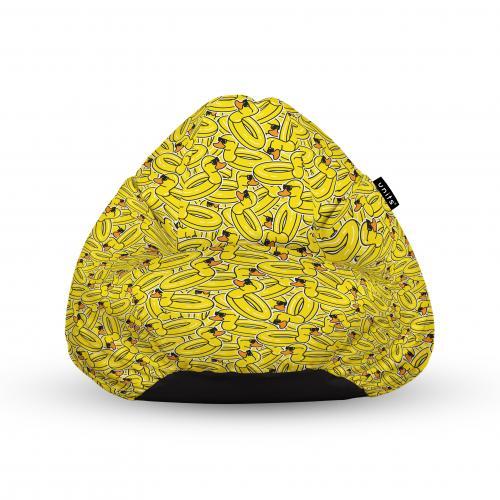 Fotoliu units puf (bean bags) tip para - impermeabil - cu maner - 100x80x70 cm - rate galbene cool - Camera bebelusului - Bean bags
