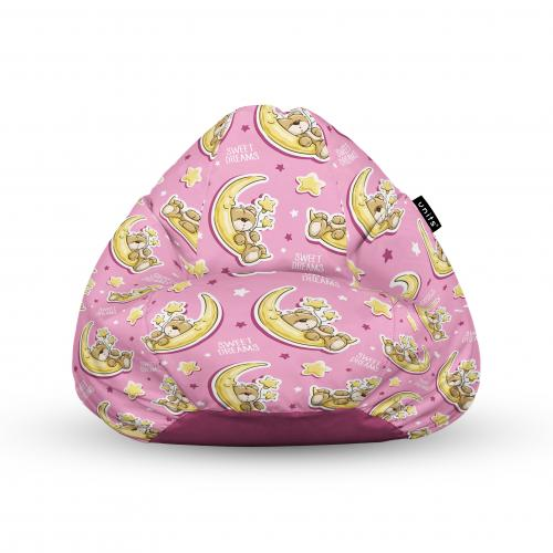 Fotoliu units puf (bean bags) tip para - impermeabil - cu maner - 100x80x70 cm - sweet dreams teddy bear - Camera bebelusului - Bean bags