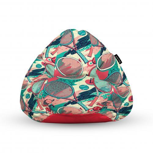 Fotoliu units puf (bean bags) tip para - impermeabil - cu maner - 100x80x70 cm - tenis - Camera bebelusului - Bean bags