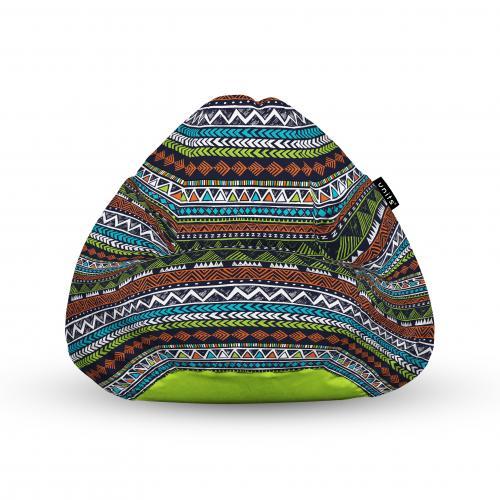 Fotoliu units puf (bean bags) tip para - impermeabil - cu maner - 100x80x70 cm - tribal aztec - Camera bebelusului - Bean bags