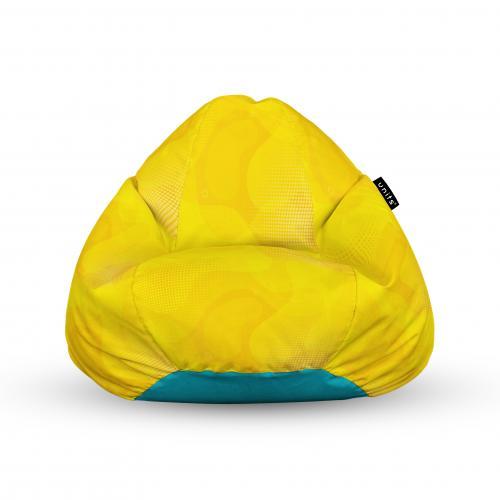 Fotoliu units puf (bean bags) tip para - impermeabil - cu maner - abstract galben - Camera bebelusului - Bean bags