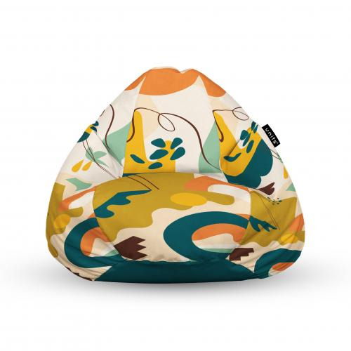 Fotoliu units puf (bean bags) tip para - impermeabil - cu maner - abstract jungle - Camera bebelusului - Bean bags