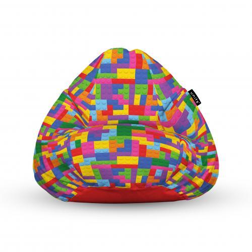 Fotoliu units puf (bean bags) tip para - impermeabil - cu maner - lego tetris - Camera bebelusului - Bean bags