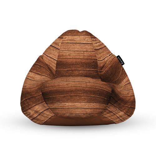 Fotoliu units puf (bean bags) tip para - impermeabil - cu maner - lemn maro - Camera bebelusului - Bean bags