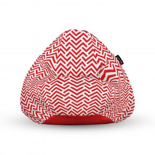 Fotoliu units puf (bean bags) tip para - impermeabil - cu maner - model rosu si alb - Camera bebelusului - Bean bags