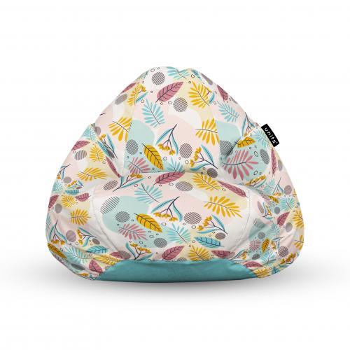 Fotoliu units puf (bean bags) tip para - impermeabil - cu maner - multicolor cu frunze - Camera bebelusului - Bean bags