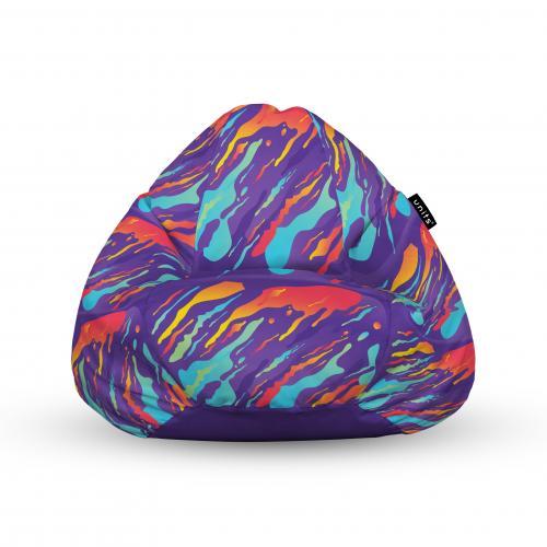 Fotoliu units puf (bean bags) tip para - impermeabil - cu maner - retro lava - Camera bebelusului - Bean bags