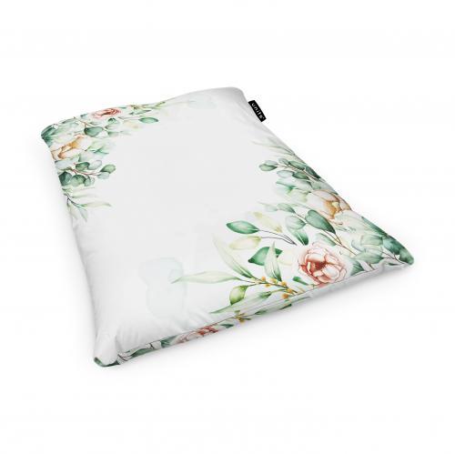 Fotoliu units puf (bean bags) tip perna - impermeabil - floral alb - Camera bebelusului - Bean bags
