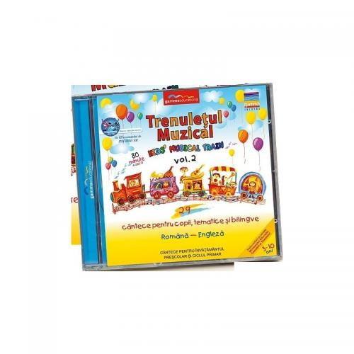 Gamma Educational Album muzical Trenuletul Muzical - Kids Musical Train vol2 - Jucarii copilasi - Jucarii educative bebe