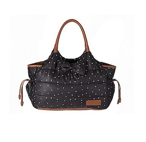 Geanta pentru mamici Mama Bag Dotty Black - Plimbare bebe - Genti carucioar