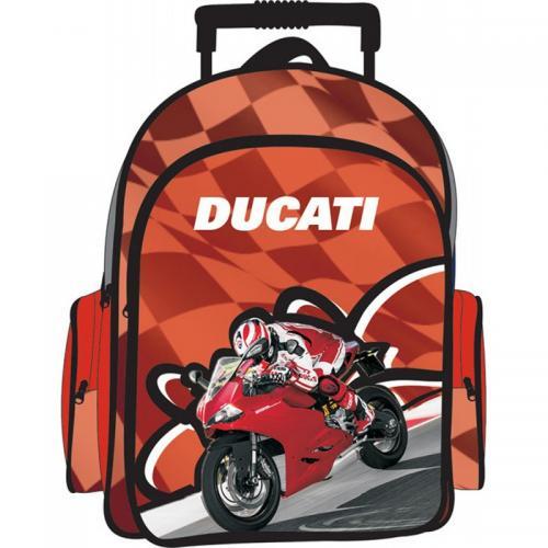 Ghiozdan cu troler Ducati oval - Rechizite - Ghiozdane si trolere