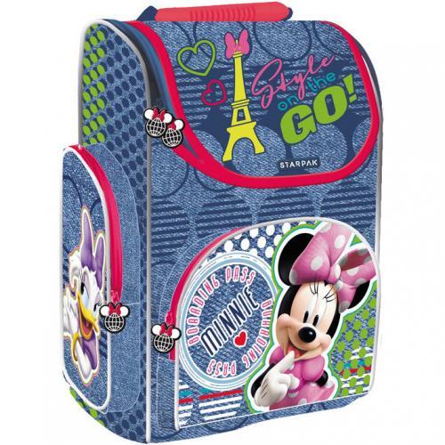 Ghiozdan pentru copii cu carcasa tare Minnie 37 cm SunCity SPK372487 - Rechizite - Ghiozdane si trolere