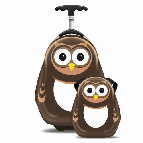Ghiozdan Si Valiza Copii Pipi The Owl - Rechizite - Ghiozdane si trolere