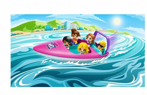 Gifts- set de jucarii - barca de viteza - Jucarii copilasi - Figurine pop