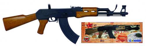 GONHER Mitraliera Asalt AK47 negru - Jucarii copilasi - Pusti si pistoale