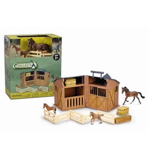 Grajd cu Animale si Accesorii - Jucarii copilasi - Figurine pop