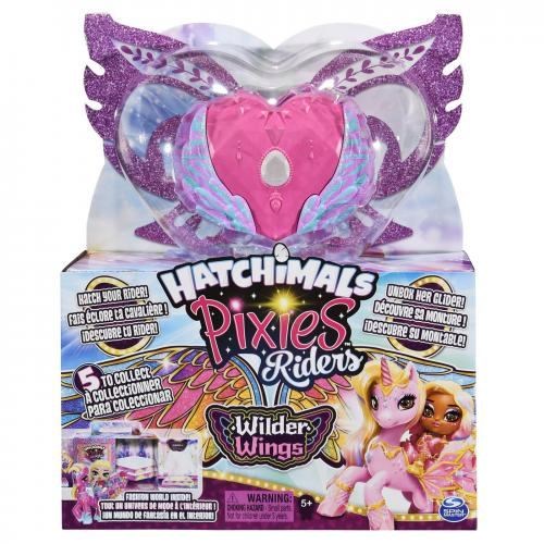 Hatchimals set de joaca cu figurine pixies riders roz - Jucarii copilasi - Figurine pop