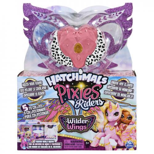 Hatchimals set de joaca figurine pixies riders cu leopard inaripat - Jucarii copilasi - Figurine pop