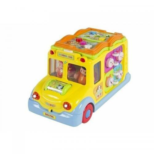 Hola Toys - Masina interactiva cu activitati - cu lumini si sunete - Jucarii copilasi - Jucarii educative bebe