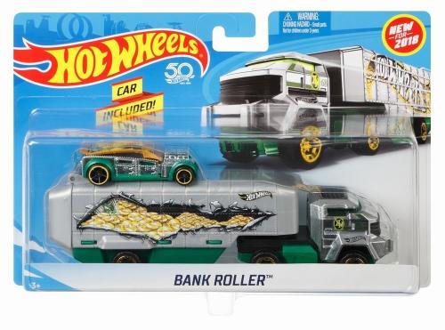 Hot wheels set camion si masina bank roller - Jucarii copilasi - Avioane jucarie