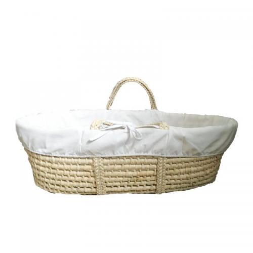 Husa interior pentru cosulet bebe Ahoj Baby alb - Camera bebelusului - Leagane si balansoare