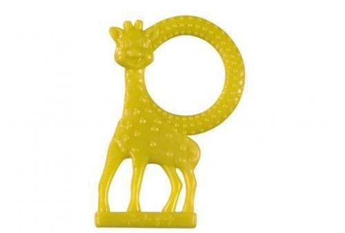 Inel dentitie vanilie in cutie cadou - Girafa Sophie Verde - Jucarii bebelusi - Jucarii dintisori