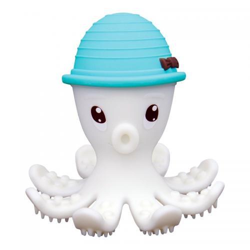 Inel gingival din silicon - mombella - octopus albastru - Jucarii bebelusi - Jucarii dintisori