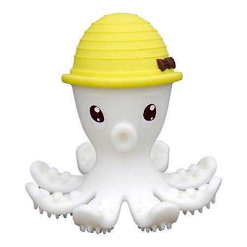 Inel gingival din silicon - mombella - octopus galben - Jucarii bebelusi - Jucarii dintisori