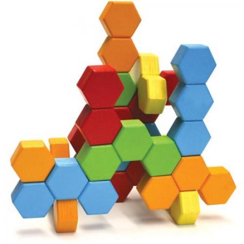 Joc De Constructie Iq Hexactly - Fat Brain Toys - Jucarii copilasi - Jucarii de constructie