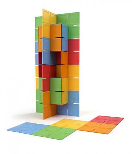 Joc De Constructie Patrate Dado Original - Fat Brain Toys - Jucarii copilasi - Jucarii logica
