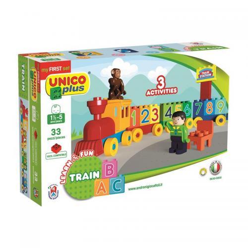Joc de construit Unico Learn&Fun ABC Train 33pcs A Haberkorn - Jucarii bebelusi -